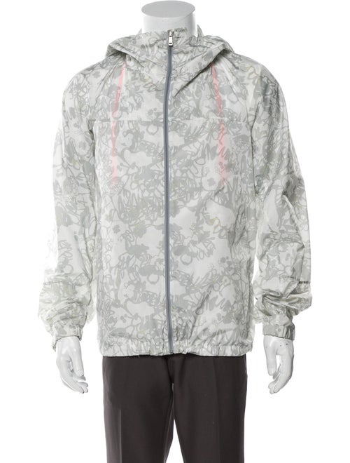 Jil Sander Graphic Print Jacket Grey