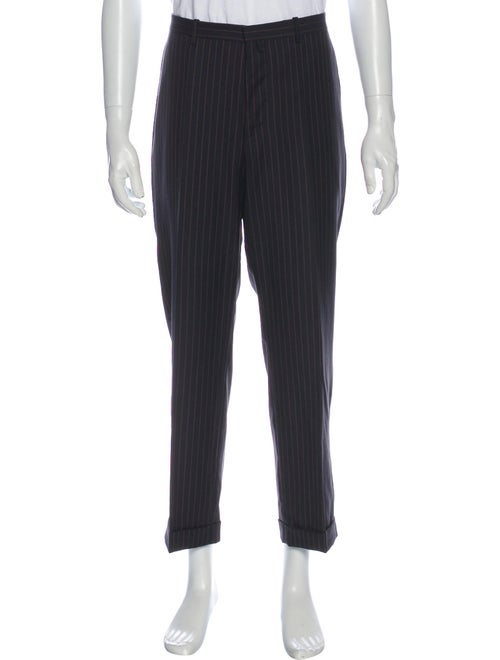 Jil Sander Striped Dress Pants Black