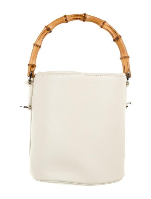 Jil Sander Leather Bucket Bag White