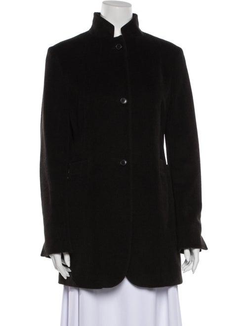 Jil Sander Angora Coat Black