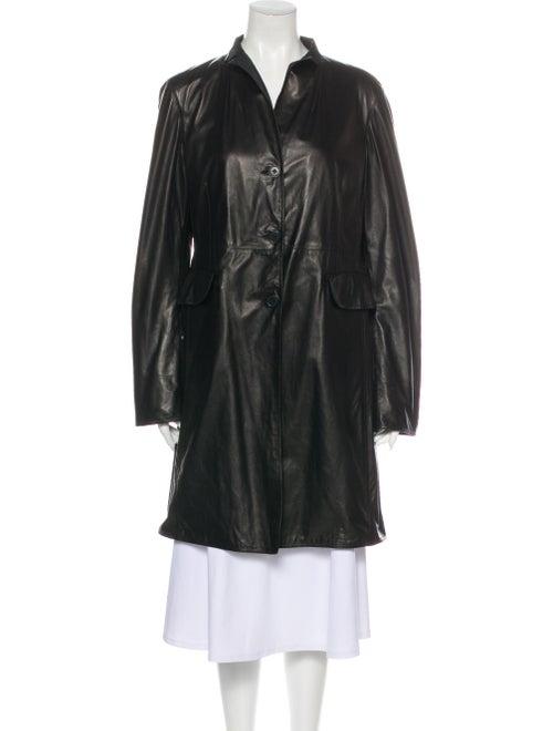 Jil Sander Leather Coat Black