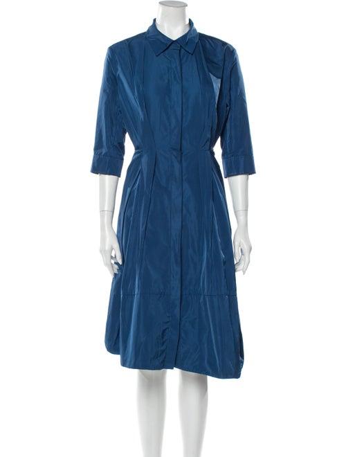 Jil Sander Midi Length Dress Blue