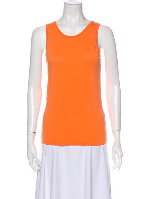 Jil Sander Scoop Neck Sleeveless Top Orange