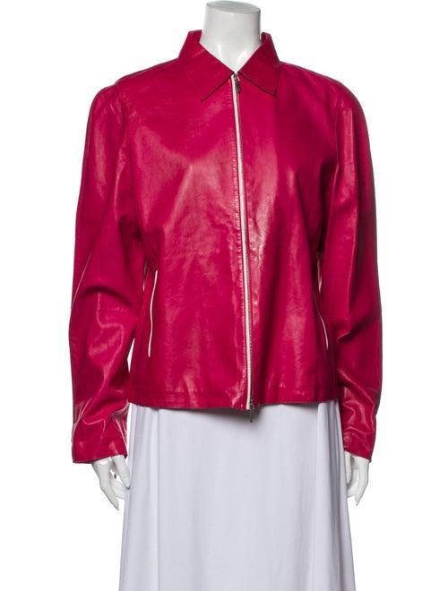 Jil Sander Leather Jacket Pink