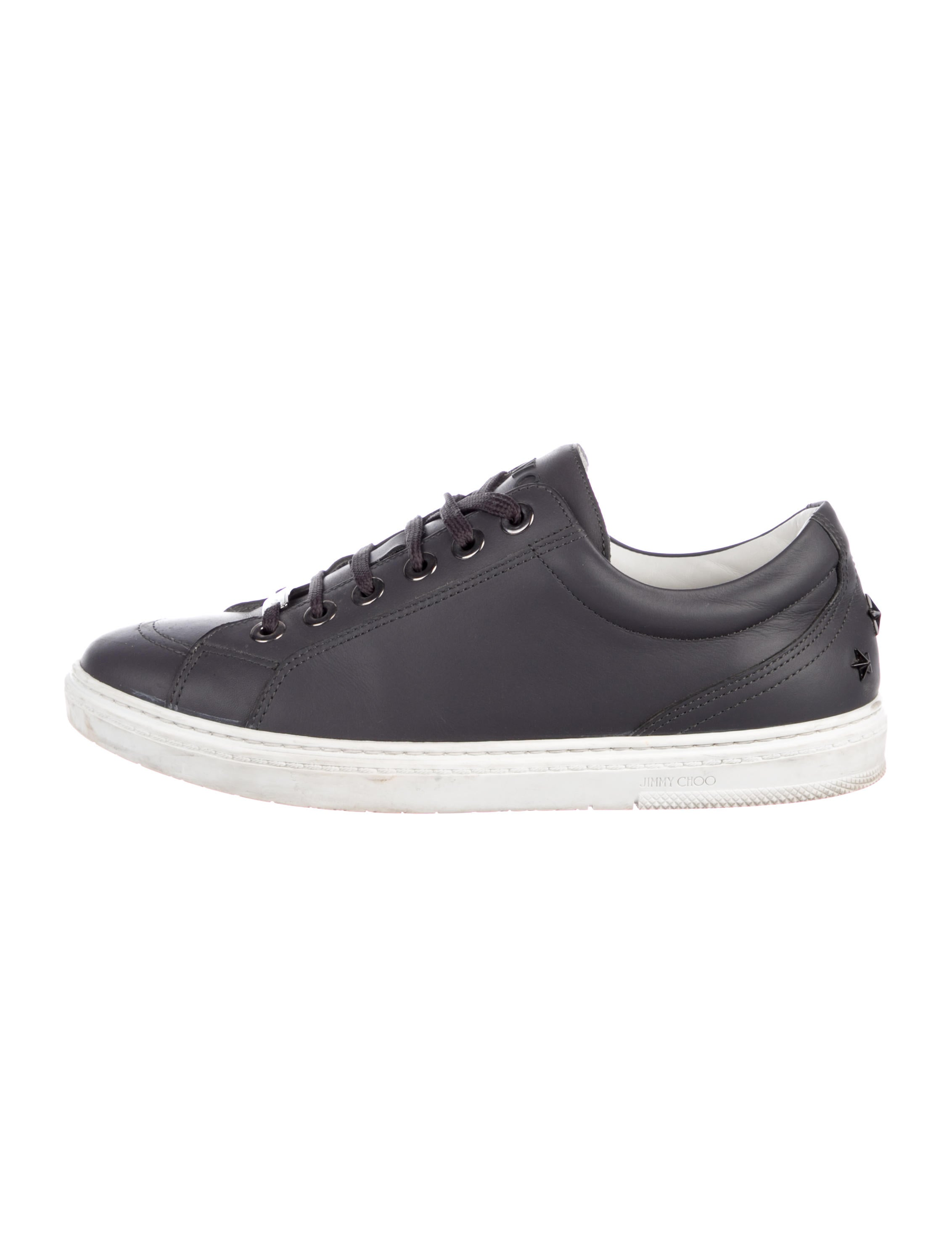 Jimmy Choo Tennis Pelle Leather Sneakers Shoes Jim100392 The