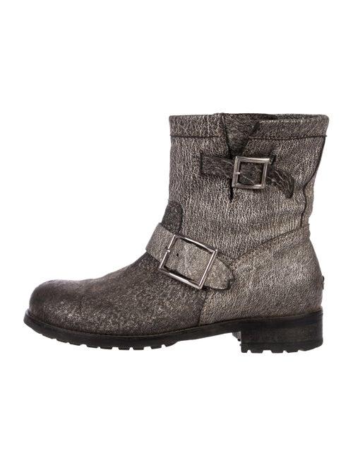 d3e79cb7a0c3 Jimmy Choo Metallic Moto Ankle Boots - Shoes - JIM100723