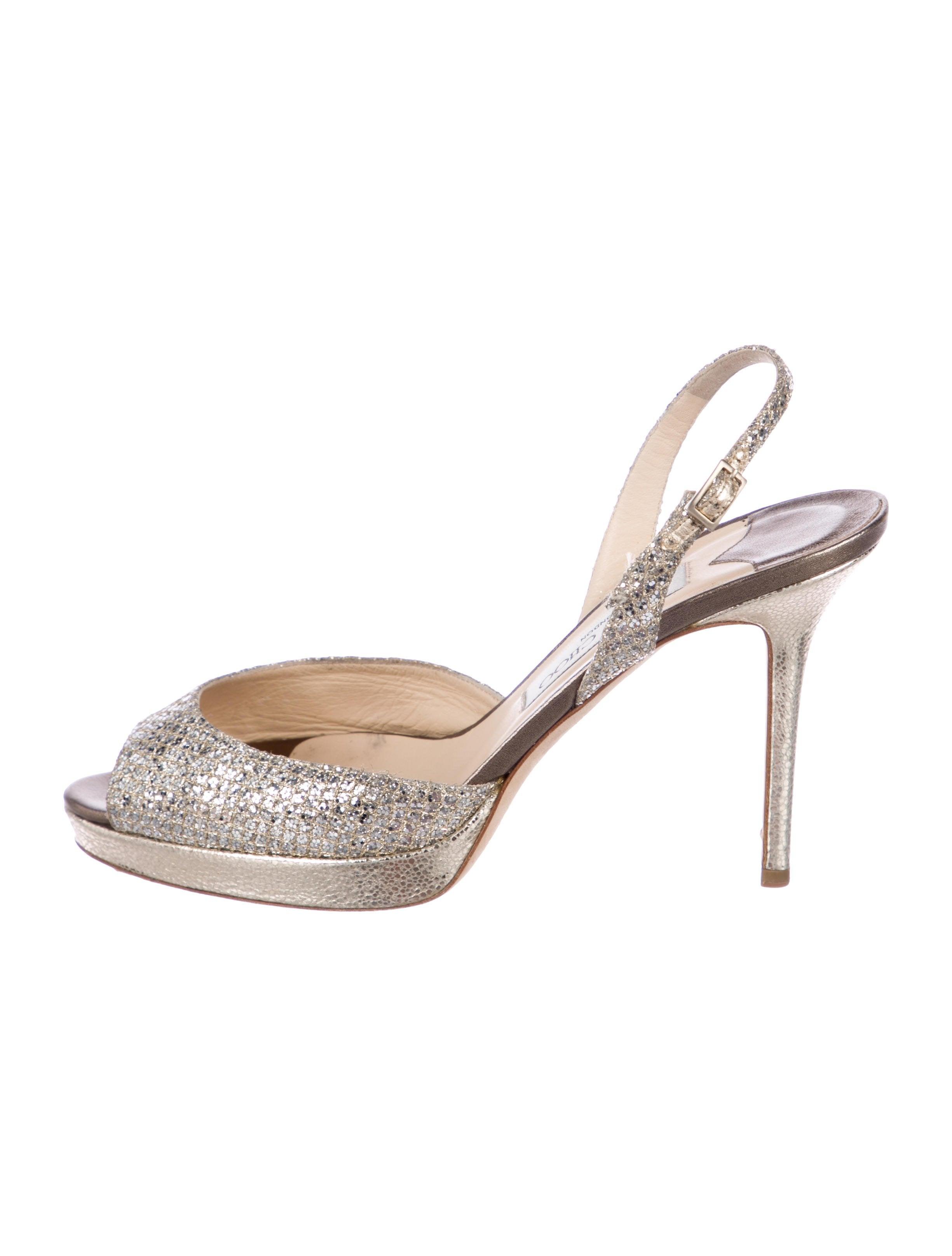 4a5afcd02a4a05 Jimmy Choo Brandy Glitter Sandals - Shoes - JIM110241