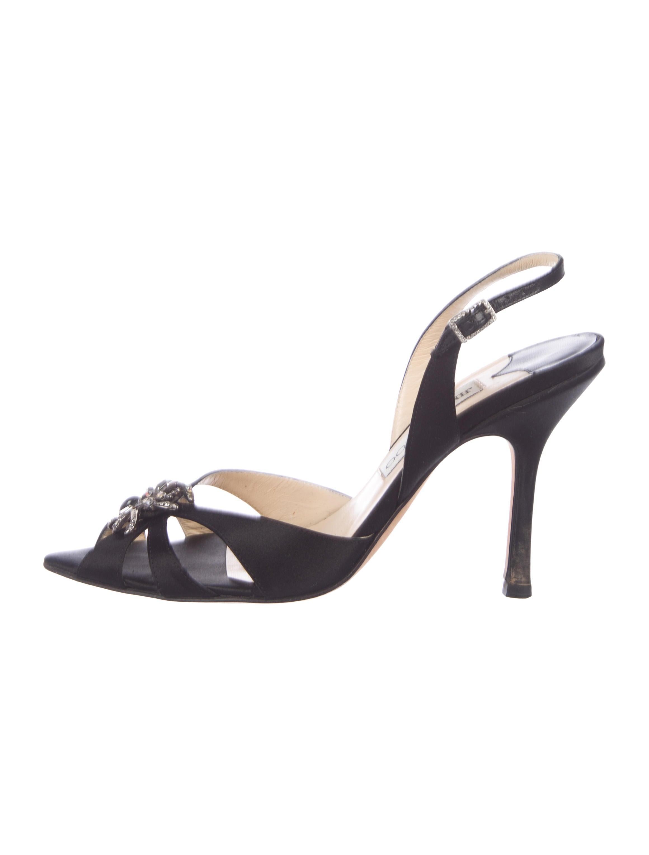 d455e481c14 Jimmy Choo Satin Embellished Sandals - Shoes - JIM114869