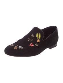 beafb16961c Jimmy Choo. Sloane Embellished Loafers