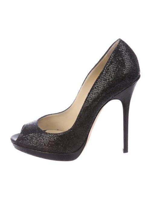 fdb8cf856 Jimmy Choo Glitter Peep-Toe Pumps - Shoes - JIM116044