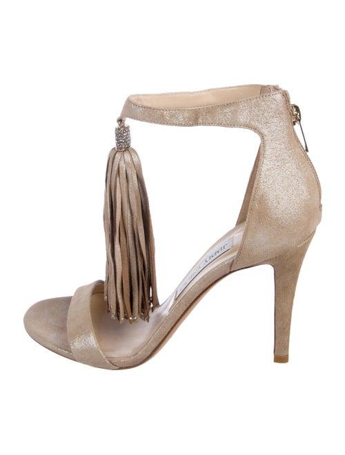 01d71952fac1ea Jimmy Choo Suede Embellished Sandals - Shoes - JIM116628