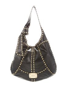 ecf0a728432 Jimmy Choo. Studded Khan Hobo