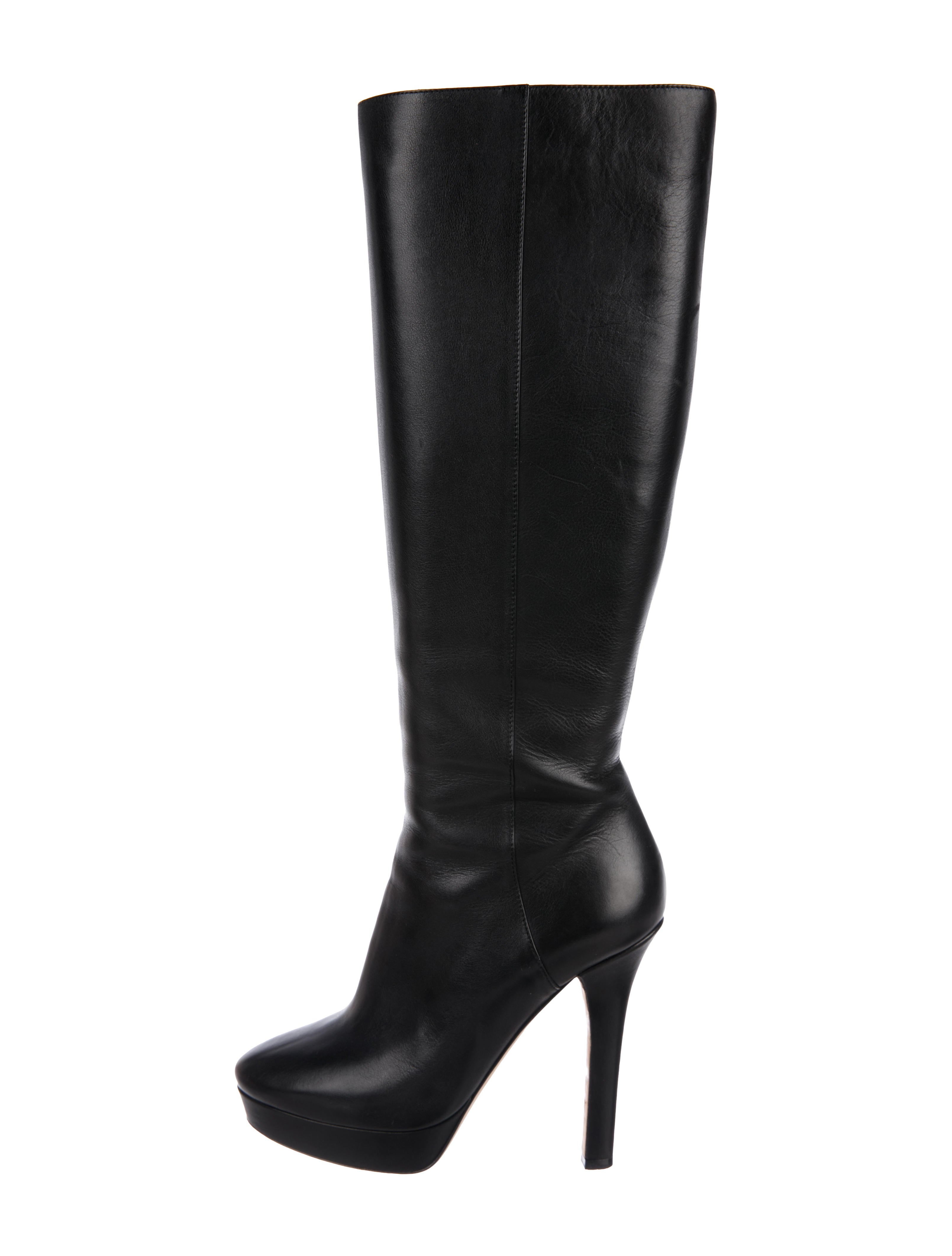 6fb28590fca Jimmy Choo Leather Knee-High Boots - Shoes - JIM118022