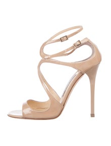 194f4f1fdc1 Jimmy Choo. Lang Patent Leather Sandals