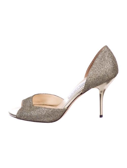 Jimmy Choo Metallic Fabric Sandals Metallic