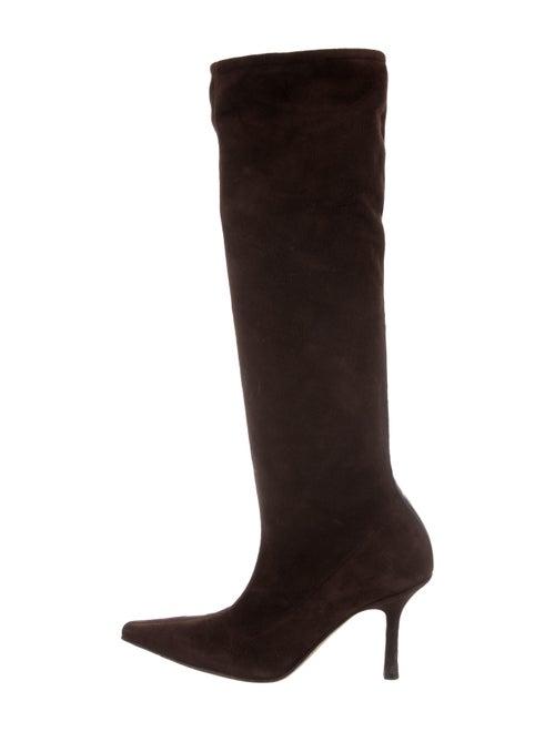Jimmy Choo Suede Knee-High Boots Brown