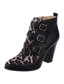 3bfa7c539bf6e Jimmy Choo. Ponyhair Buckle Ankle Boots. Size: US 8 ...