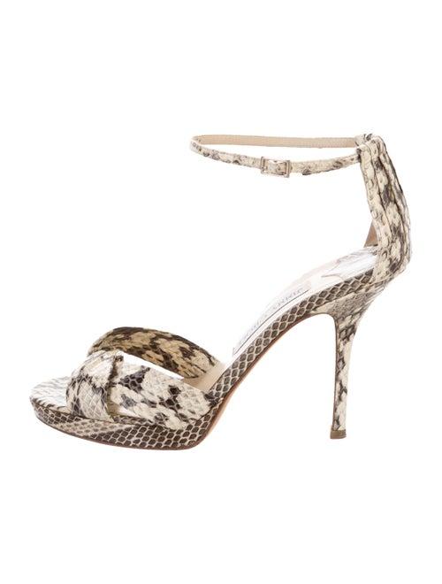Jimmy Choo Snakeskin Animal Print Sandals