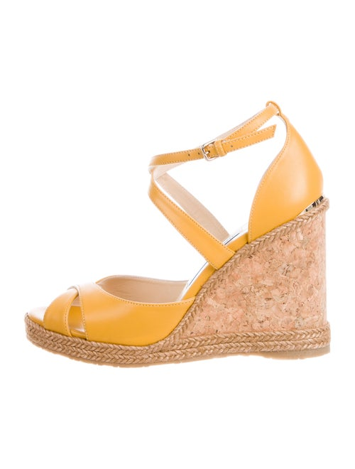 Jimmy Choo Leather Espadrilles Yellow