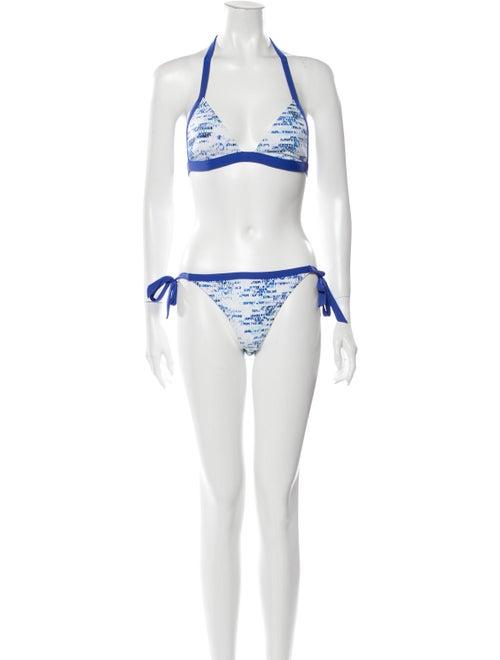 Jimmy Choo Printed Bikini Blue