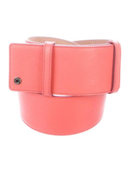 Jimmy Choo Leather Wide Belt Coral