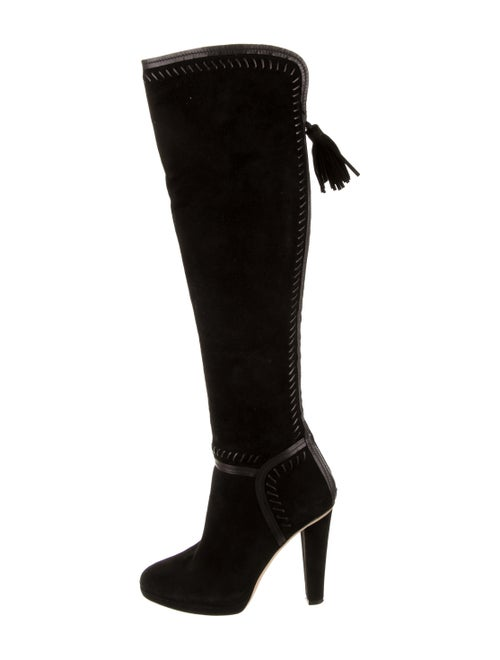 Jimmy Choo Over-The-Knee Suede Boots Black