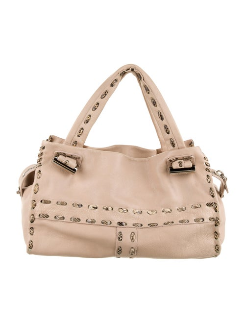 Jimmy Choo Leather Shoulder Bag Beige
