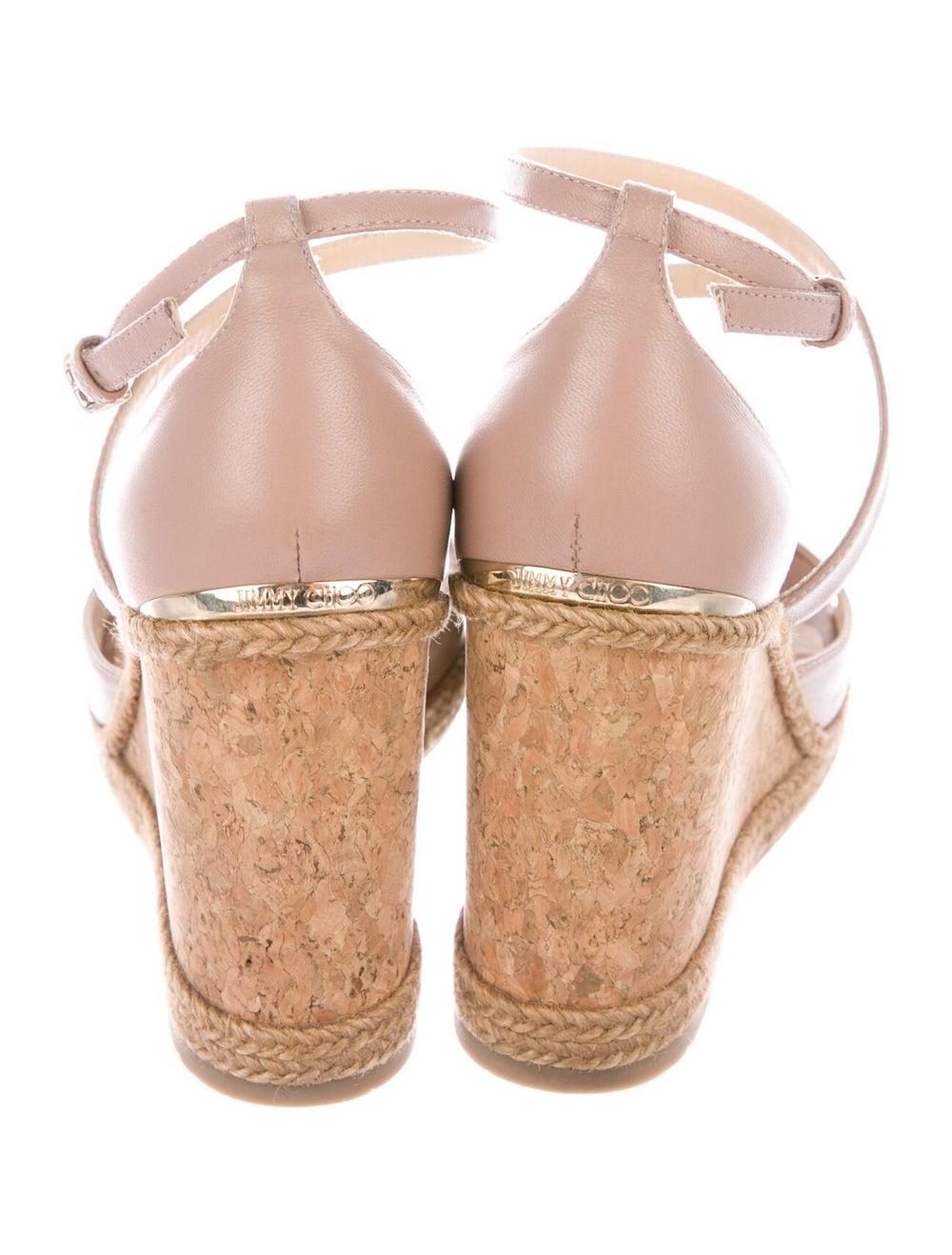 Jimmy Choo Leather Espadrilles Pink - image 4