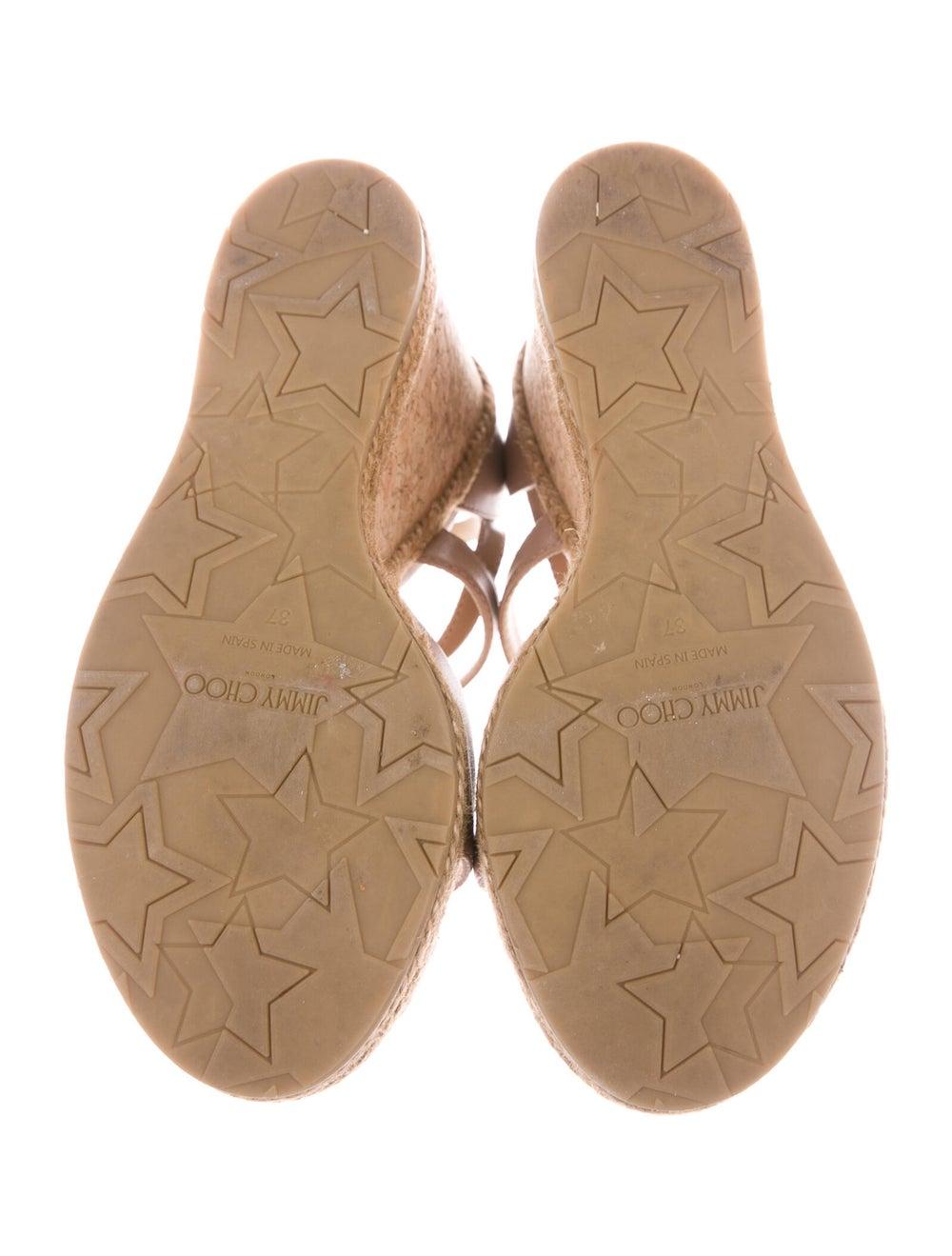 Jimmy Choo Leather Espadrilles Pink - image 5