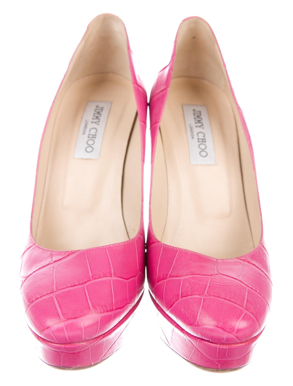 Jimmy Choo Embossed Leather Pumps Pink - image 3