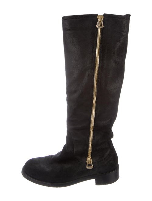 Jimmy Choo Suede Riding Boots Black
