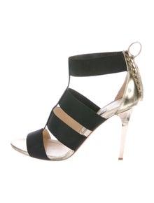 Jimmy Choo Leather Leather Trim Embellishment Gladiator Sandals