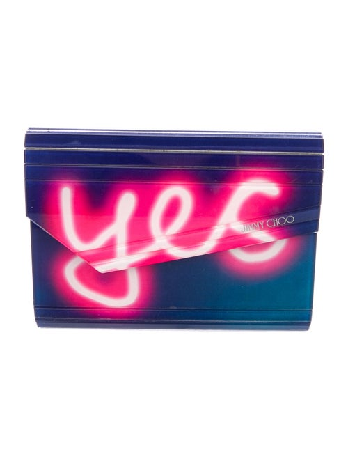 Jimmy Choo Neon Light Candy Clutch Navy