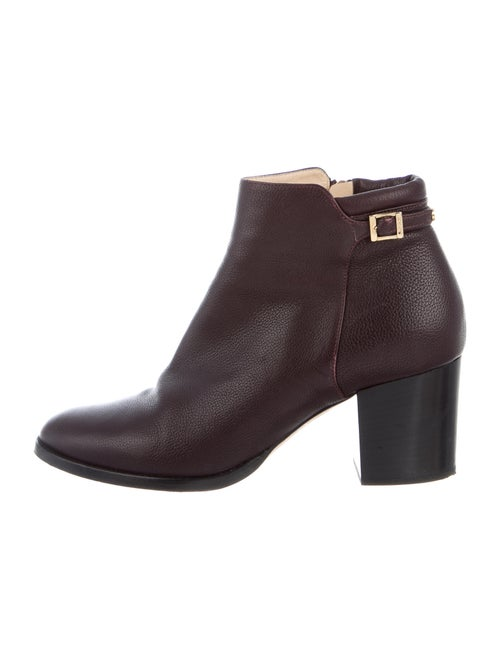 Jimmy Choo Leather Boots Purple