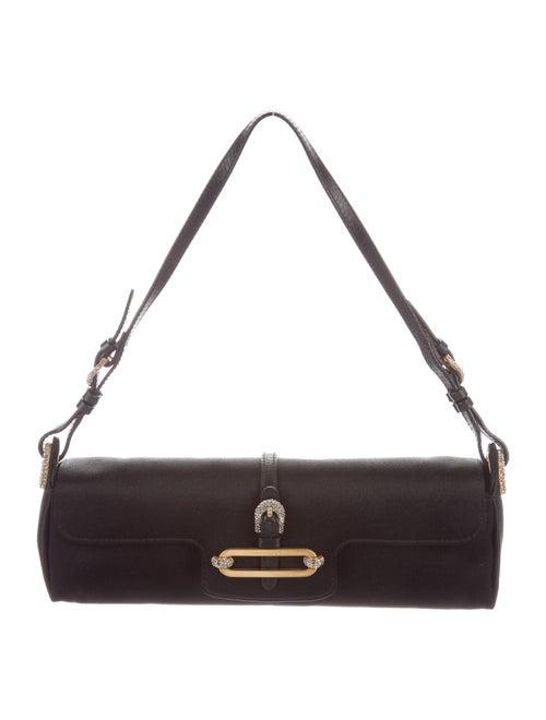 Jimmy Choo Satin Evening Bag Black