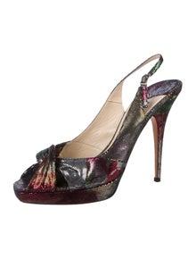 Jimmy Choo Suede Printed Slingback Sandals