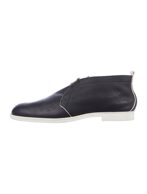 Jimmy Choo Leather Derby Shoes Blue