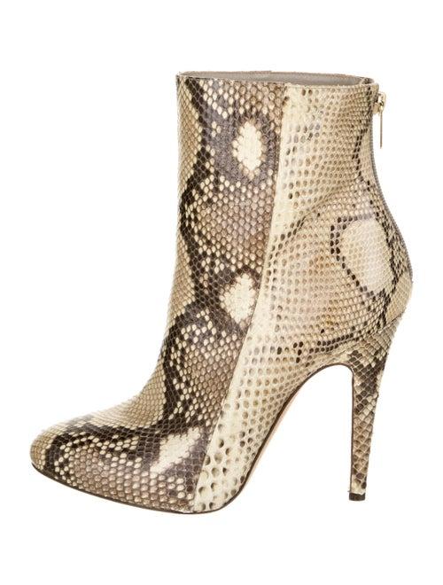 Jimmy Choo Snakeskin Boots Brown