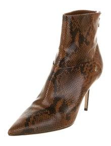 Jimmy Choo Leather Animal Print Boots