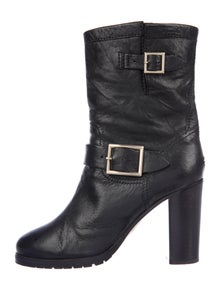 Jimmy Choo Leather Moto Boots