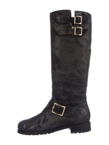 Jimmy Choo Suede Moto Boots