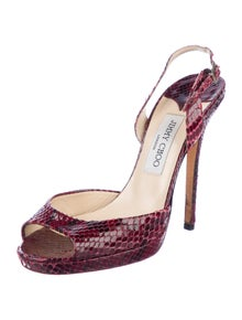 Jimmy Choo Snakeskin Slingback Sandals