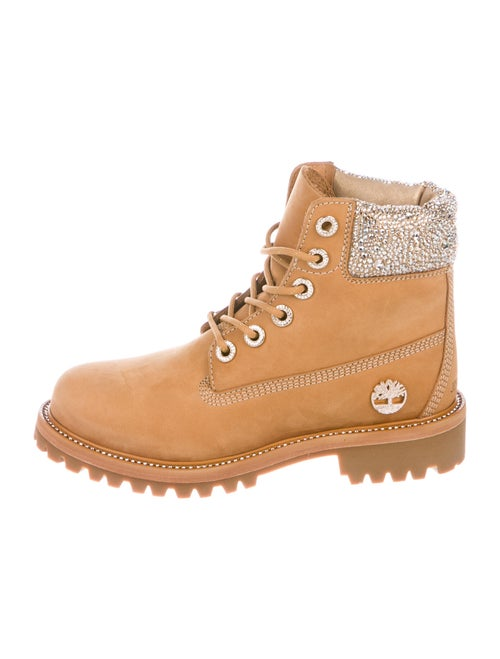 Jimmy Choo x Timberland Suede Hiking Boots Brown