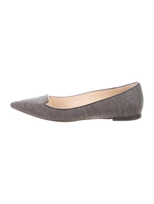 Jimmy Choo Leather Flats Grey