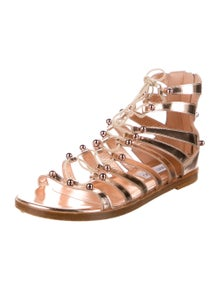 Jimmy Choo Leather Printed Gladiator Sandals