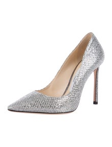 Jimmy Choo Leather Glitter Accents Pumps w/ Tags