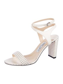 Jimmy Choo Leather Studded Accents Sandals