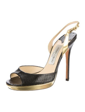 Elaphe Snakeskin Sandals