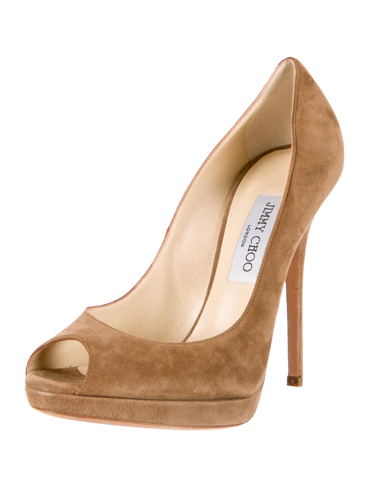 Jimmy choo peep toe pumps shoes jim39249 the realreal - My peep toes ...