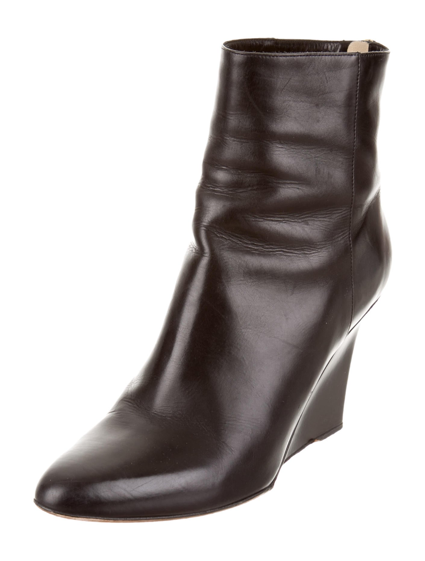 jimmy choo pointed toe wedge ankle boots shoes